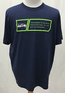 Seattle Seahawks NFL Navy Blue Shirt - NIKE Dri-Fit - Men s XL  6784f2502
