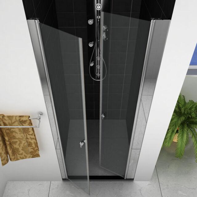 Dusche Nischenabtrennung Duschkabine Duschabtrennung Duschtür Pendeltür 90cm