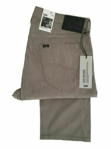 Taupe Putty Mens Lee Daren Regular Fit Soft Twill Chino Zip Fly L707FM65