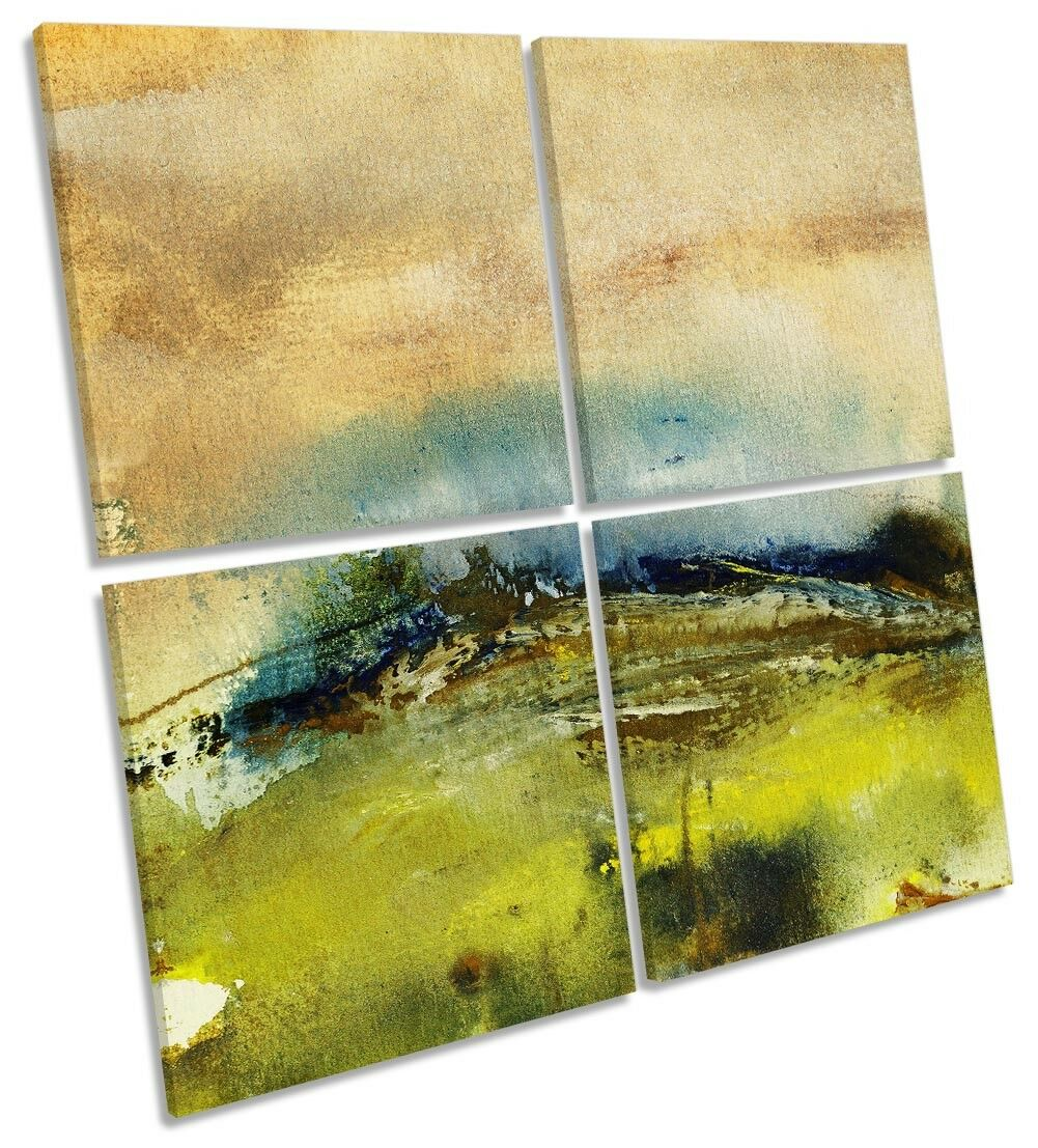 Grün Landscape Abstract MULTI CANVAS WALL ARTWORK Square Art