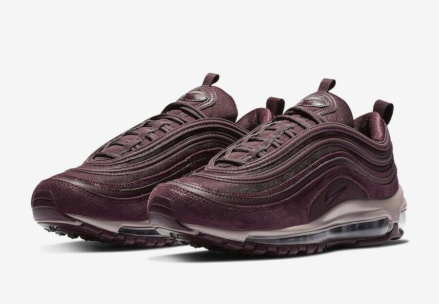 Nike Womens Sz  6 Air Max 97 Burgundy Crush,Metallic Mahogany AV8198-600