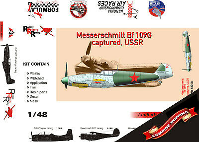 NEW AMG ! plastic + PE, resin parts 1//72 Bf-109V7 Dubendorf