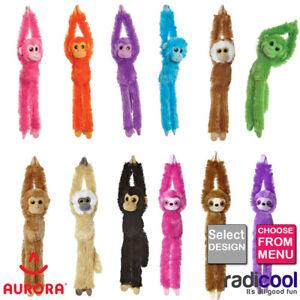 Aurora-HANGING-MONKEYS-Cuddly-Soft-Toy-Teddy-Kids-Gift-New-choose-colour-New