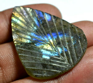 32-00Ct100-Natural-Fire-Labradorite-Crystal-AGSL-Certified-Carving-Cut-Gemstone