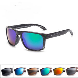 bc269051f4d Image is loading Retro-Holbrook-Style-Sunglasses-Colored-Frame-Mirror-Lens-