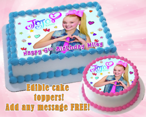Incredible Jojo Siwa Edible Birthday Cake Topper Personalized Item Premium Funny Birthday Cards Online Aeocydamsfinfo