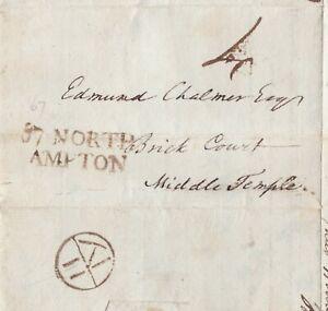 1786-1st-TYPE-NORTHAMPTON-MILEAGE-amp-BISHOPMARK-PART-LETTER-TO-EDMUND-CHALMER