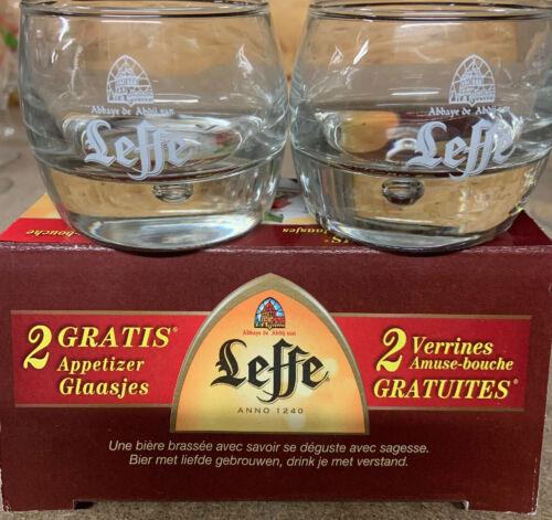 LEFFE  2 APERITIF GLASSES BRAND NEW