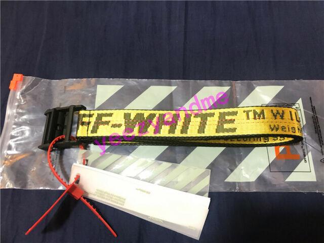 Fashion Off Whtie Belt Tie Down Nylon Cotton Big IRON Head Industrial Belt