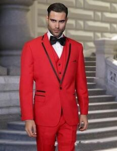 One-Button-Red-3-Pieces-Men-Suit-Slim-Fit-Peaked-Lapel-Tuxedo-Wedding-Prom-Suits