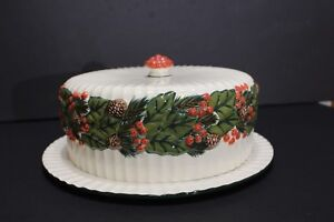 Image is loading International-Bazaar-Porcelain-Covered-Cake-Plate -Christmas-Design : covered cake plate - Pezcame.Com