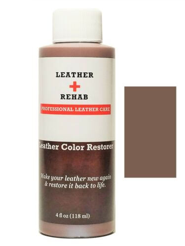 No Kit Leather Rehab Color Restorer Repair Couch Car Chair Vinyl Brown Toffee