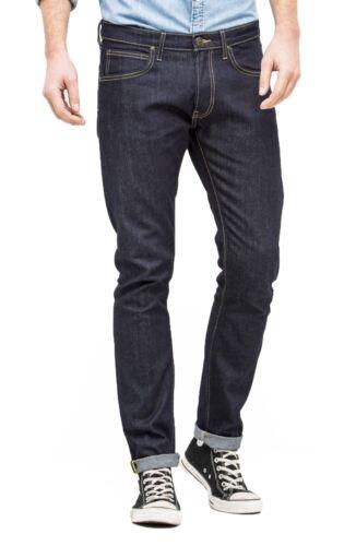 Lee Luke Slim Tapered Jeans denim nuova linea uomo Stretch Regular Rise Urban Blu Scuro