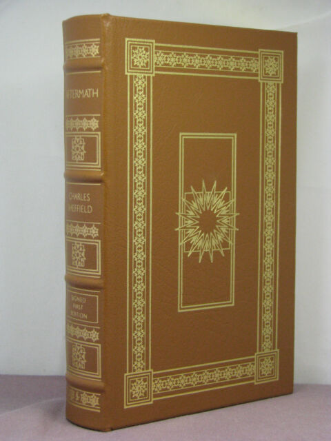1st, signed by author, Aftermath 1: Aftermath by Charles Sheffield, Easton Press