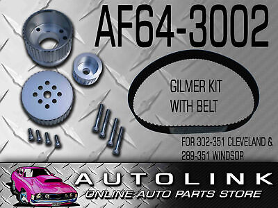 Aeroflow AF64-3002 Gilmer Drive Kit Silver Ford 289-351W 302-351C