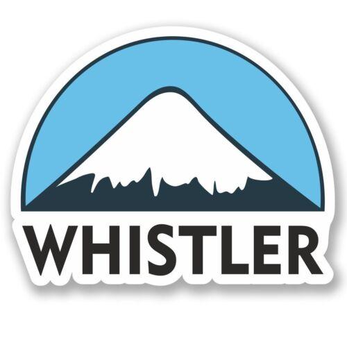 2 X Whistler Esquí Snowboard Pegatina de vinilo Laptop Viaje Equipaje Coche #5154
