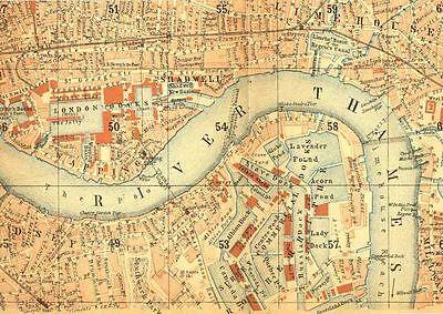 Vintage London Map VINTAGE ENAMEL METAL TIN SIGN WALL PLAQUE