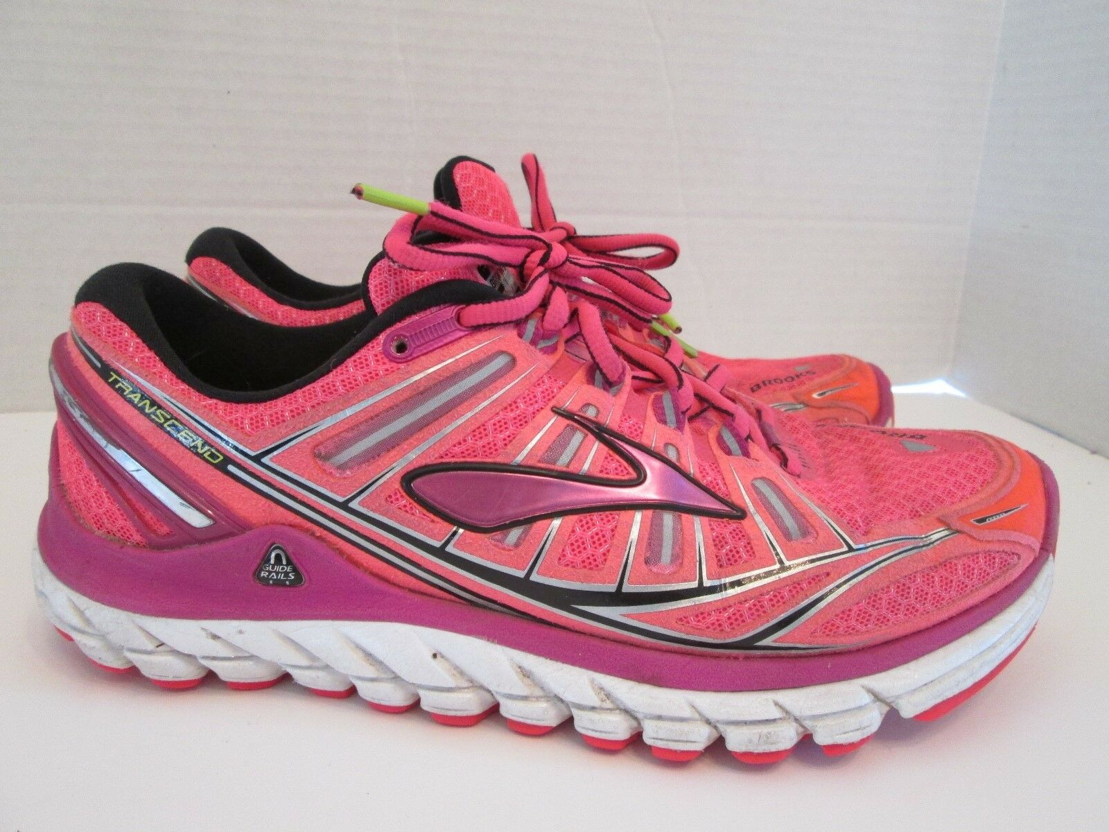 BROOKS TRANSCEND Pink Running Athletic Sneaker Shoes Women's Size 7