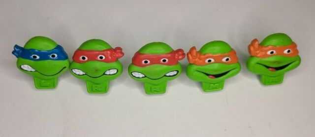 Lot Of (5) TMNT Ninja Turtle Rings (2) Are Branded Nabisco