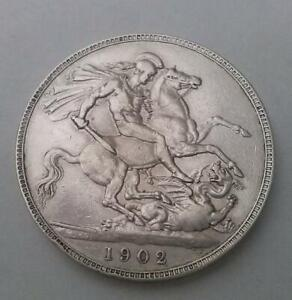 1902-Edward-VII-Crown-Coin-Silver-Good-Very-Fine