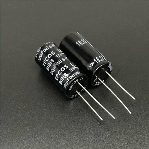 10//50Pcs 330uF 50V EPCOS B41858 13x25mm 50V330uF Aluminum Electrolytic capacitor