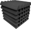 Acoustic-Foam-12x12x2-wedge-96-Pack-Charcoal-Gray-Combo-Soundproofing-tiles
