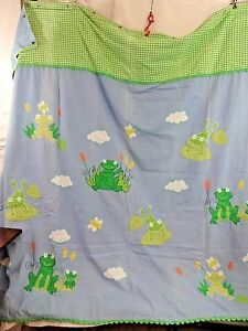 The Company Store Applique Frog Shower Curtain Kids