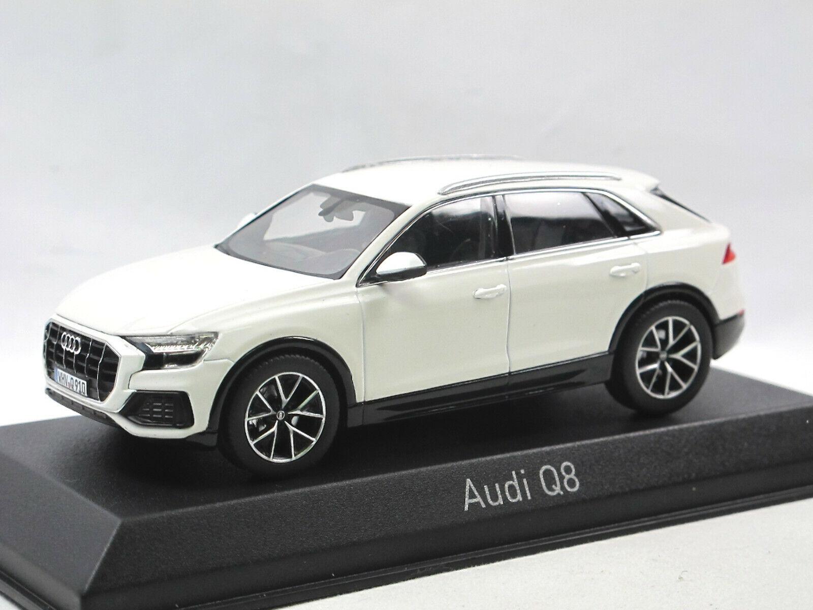 NOREV 830040 - 2018 Audi q8-Blanc-Détaillé Voiture Miniature 1 43