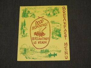 VINTAGE OLD DINING MODESTO CALIFORNIA  RESTAURANT BREAKFAST MENU