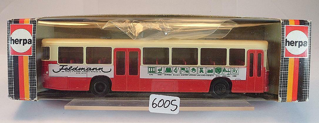 Herpa 1 87 831483 MAN SÜ 240 Linienbus Werbemodell Feldmann wie HHA OVP