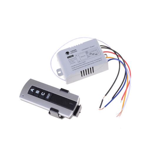 3 Channel Wireless Remote Control Switch Digital