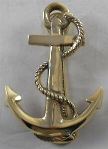 Image Is Loading Solid Brass Fouled Anchor Doorknocker Nautical Door Knocker