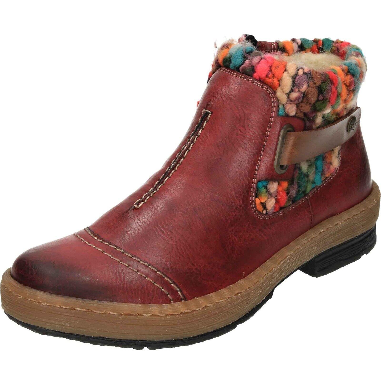 Rieker Z6784 lana forrada de panel plano Rambler Rambler Rambler Para Mujer De Punto Cálido botas al tobillo e2b0ae
