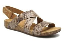 4c3fcf6af Clarks Perri Dunes Shoes Womens Sandals Real Leather Grey 26105903 ...