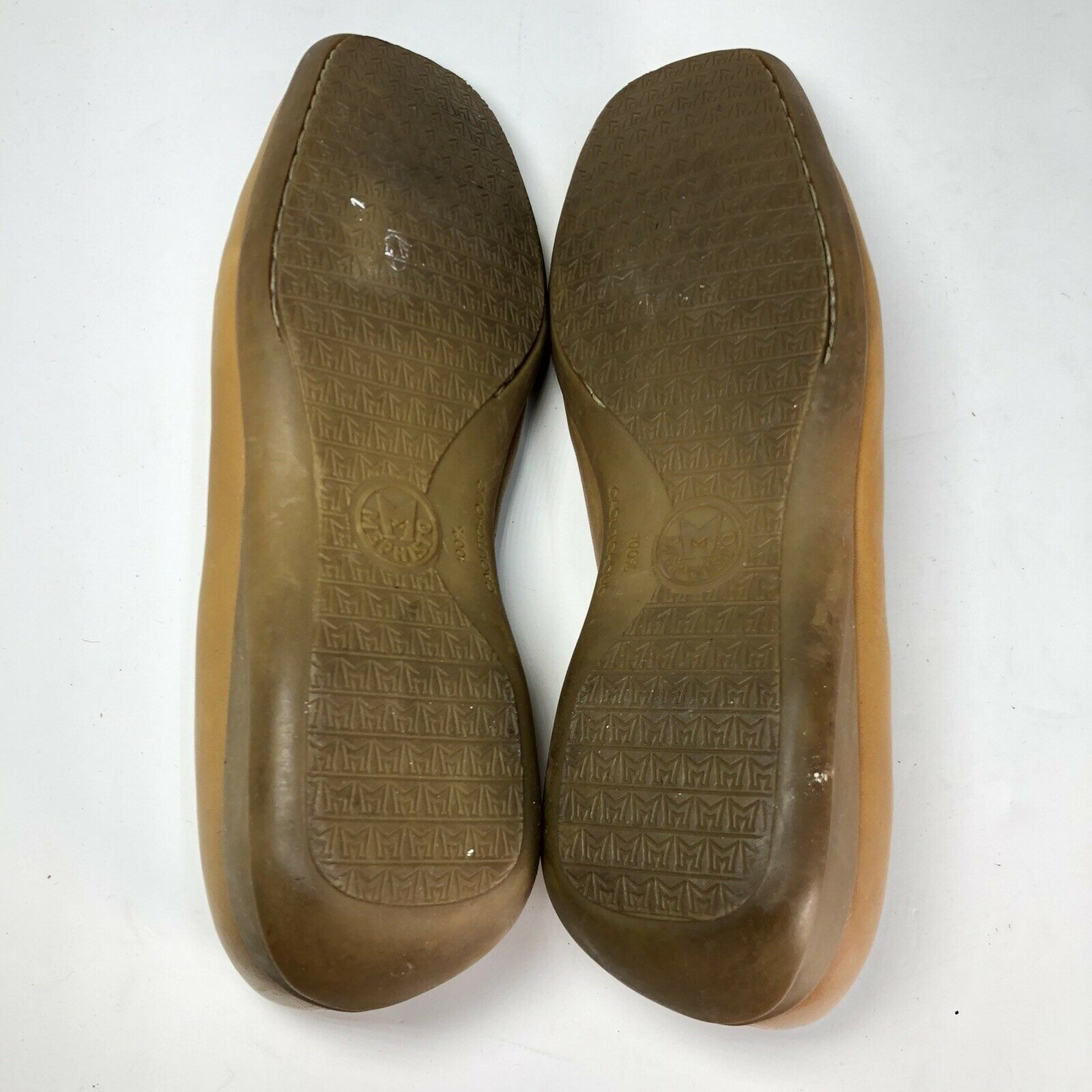 Mephisto Tan Leather Square Slip On Womens Flats … - image 8