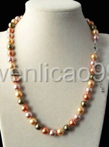 Fashion-Natural-8mm-multicolour-South-Sea-Shell-Pearl-Necklace-18-034-AAA