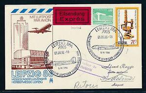 97520) Rda Coursier So-carte Foire Sf Leipzig-helsinki 5.9.86-afficher Le Titre D'origine Texture Nette