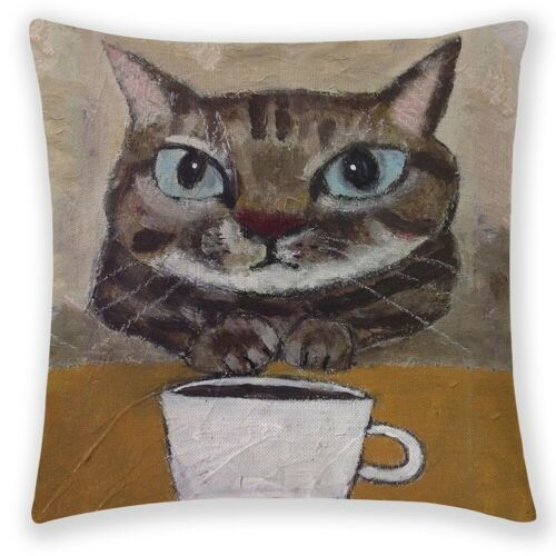 18/'/' Cartoon Cat Kitten Linen Pillow Case Cushion Cover Art Home Office Decor
