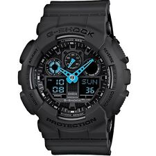 **BRAND NEW* MENS CASIO G-SHOCK NEON BLUE XL GA-100C-8ACR 8AER WATCH RRP £199