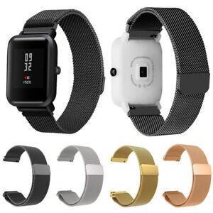 diseño novedoso venta caliente barato donde puedo comprar Detalles de Milanés Magnético Loop Pulsera Correa para Reloj de Xiaomi  Amazfit Bip Youth