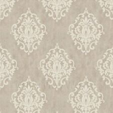 Dolls House Miniature Pale Beige Birds And Butterfly Wallpaper
