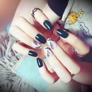 24pcs-fake-nails-art-tips-acrylic-nail-false-french-artificial-full-nail-greenBP