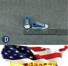 1/6 men shoes blue Converse style Chuck Taylor Low Top for phicen hot toys USA