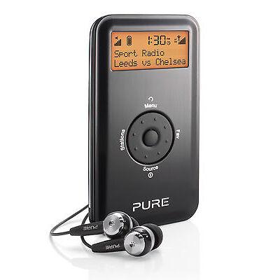 Pure Move 2520 Portable Pocket Personal DAB Radio Digital FM Rechargable Black