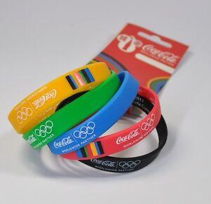 5 COCA-COLA IN SILICONE BRACCIALI OLYMPIA 2012 coke amicizia nastri Wristband  </span>