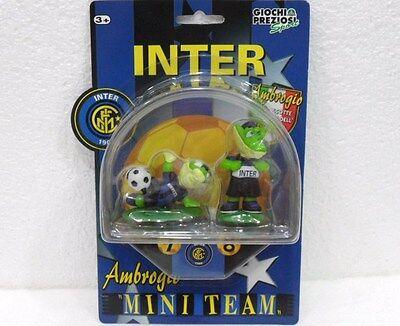 Capace Inter-n° 7 E 8 Del Mini Team-ambrogio La Mascotte Ufficiale-preziosi Sport 2000