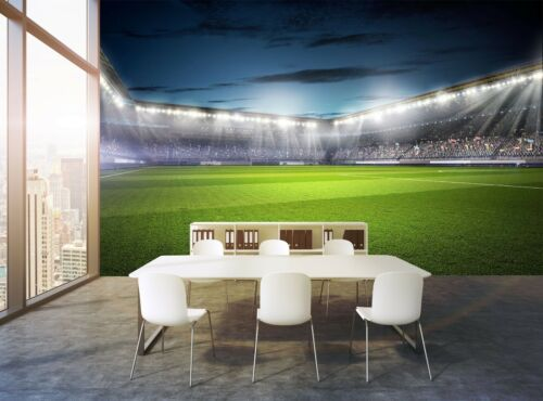 Soccer Field Wall Mural Photo Wallpaper GIANT WALL DECOR Paper Poster Free Paste