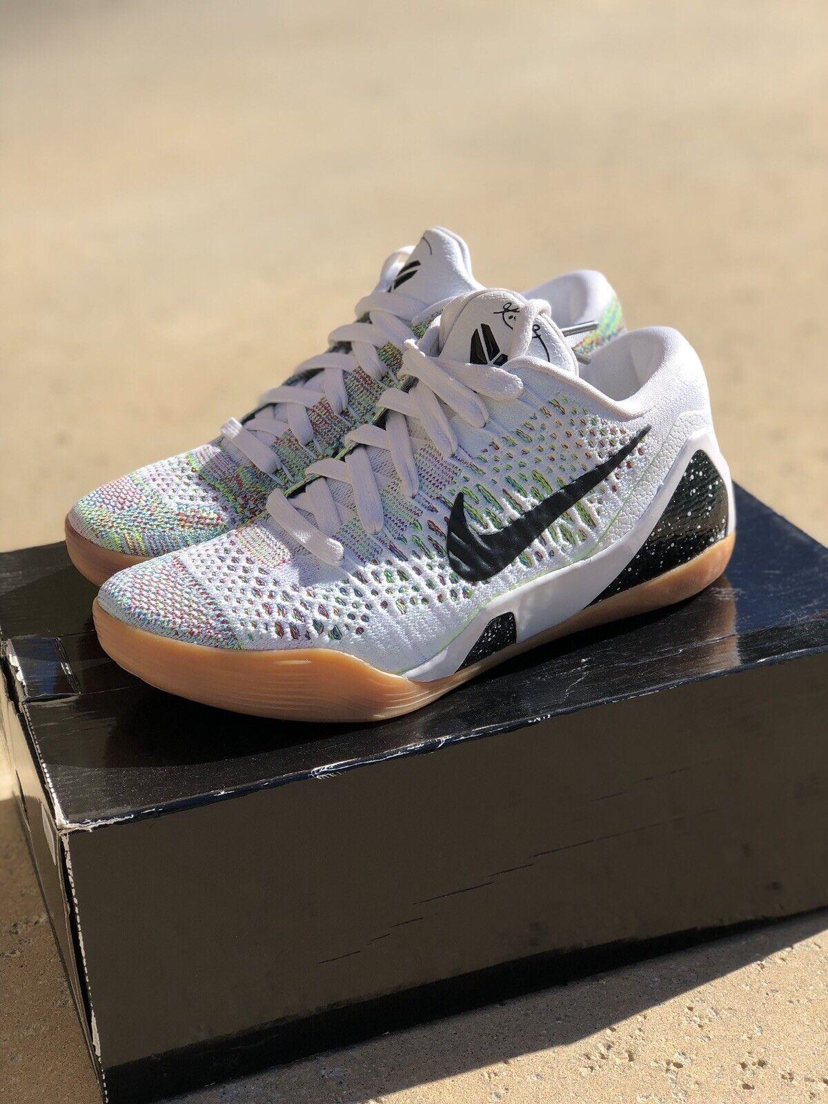 100% Authentic Kobe IX 9 HTM Premium Multicolor Nike White Gum Size 7 Brand New