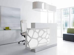 Design Rezeption AQUA, 130-1700x77x111 cm, weiß, LED-Beleuchtung | eBay