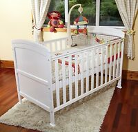 Poppy's Playground Penelope Cotbed/junior Bed-pocket Sprung Mattress-white
